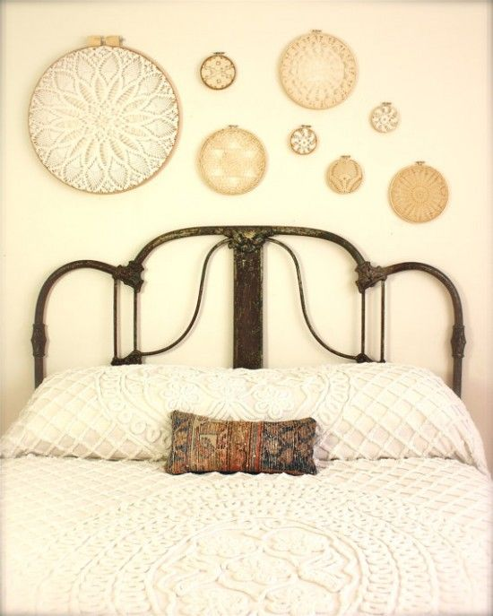 great use for family heirloom doilies to be displayed - I LOVE this idea!!!  I have some old doilies that I can use!  Perfect idea!!!