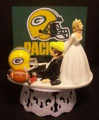 Packer wedding cake topper