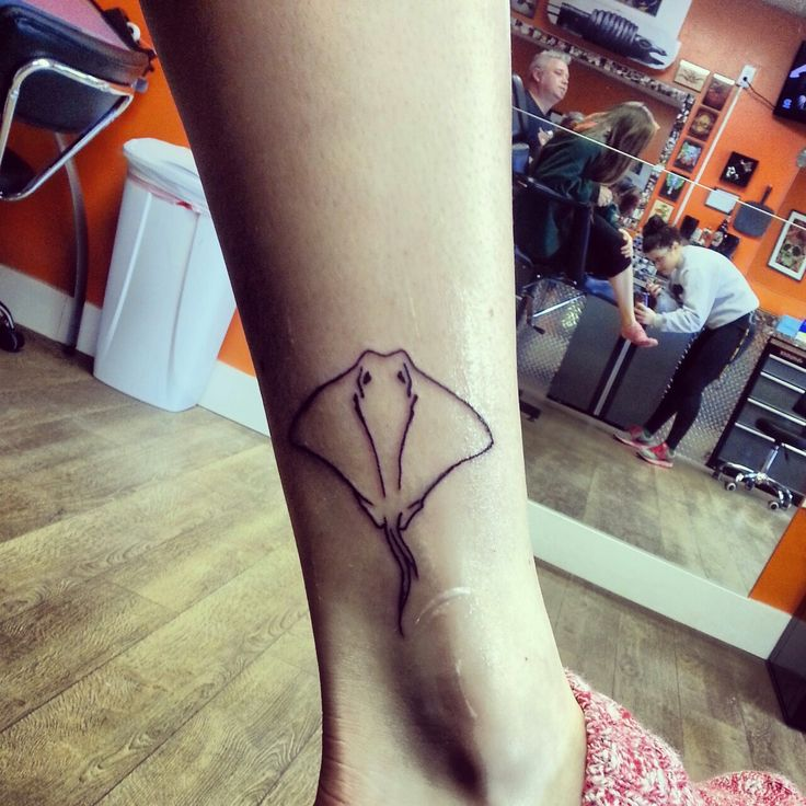 stingray tattoo, still cute, but more realistic.