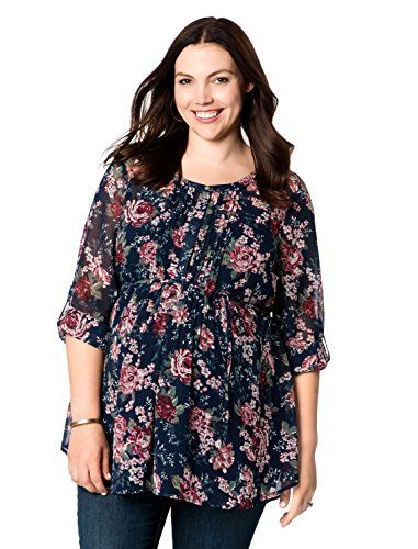 Just My Size carries plus size maternity dresses, tees, jeans, capris for sizes up to 32W as well as nursing bras. They have an excellent return policy. iMaternity (Motherhood) carries plus size maternity clothes, mostly up to 3X. Categories include shirts, tees, sweaters, bottoms, pantsuits, dresses, career separates, sleepwear, swimwear, and intimates.