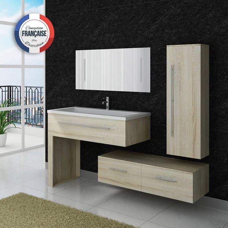 ensemble de salle de bain simple vasque complet et moderne bois clair