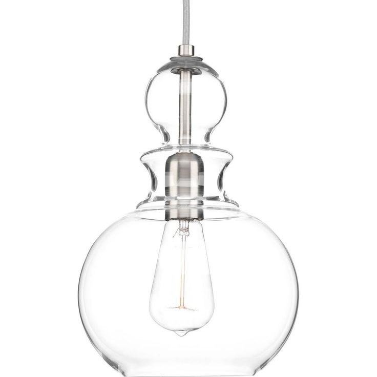 Progress Lighting Staunton Collection 1-Light Brushed Nickel Pendant with Clear Glass  sc 1 st  Pinterest & Best 25+ Progress lighting ideas on Pinterest | Bar pendant lights ... azcodes.com