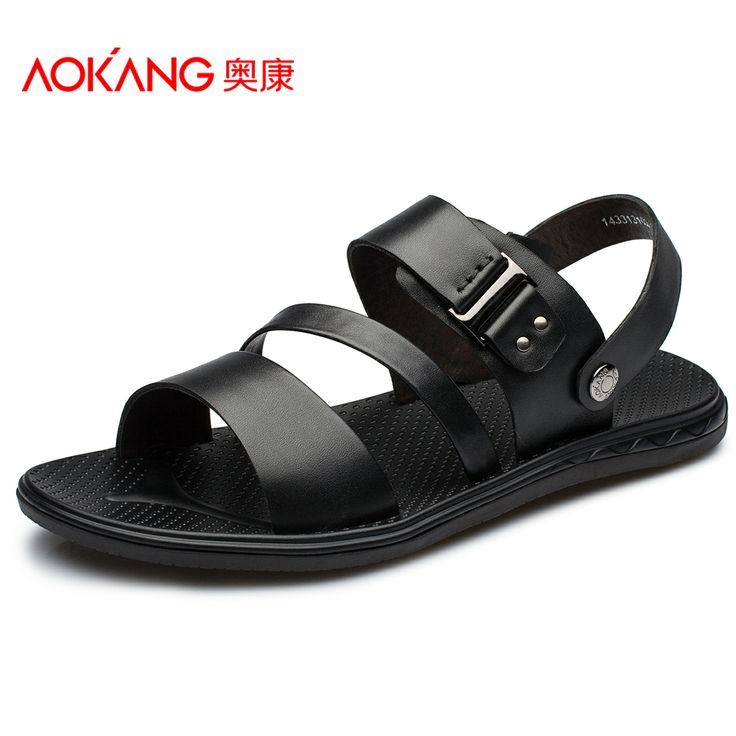Aokang sandals 2014 daily casual comfortable genuine leather sandals male sandals men's US $87.55