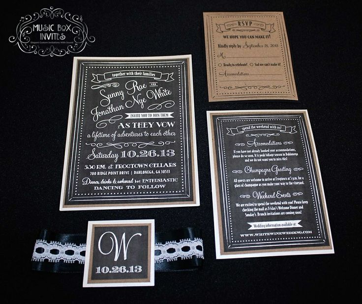 High End Elegant Wedding Invitations: 17 Best Images About Musical Invitations Portfolio
