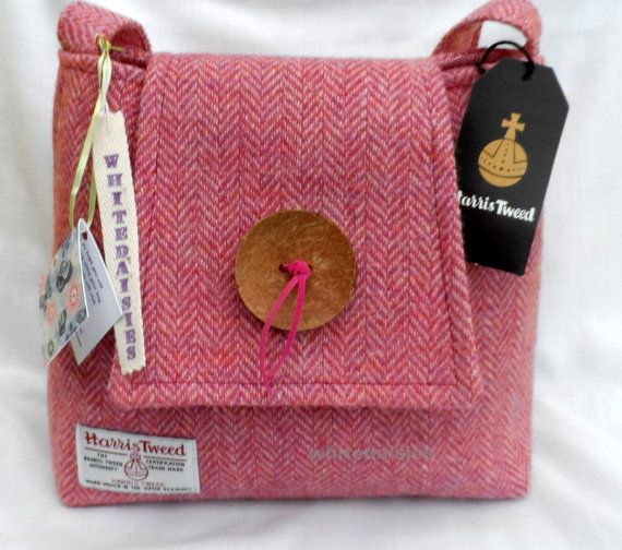 Handmade Harris Tweed handbag by Tweedbyme on Etsy, £48.50