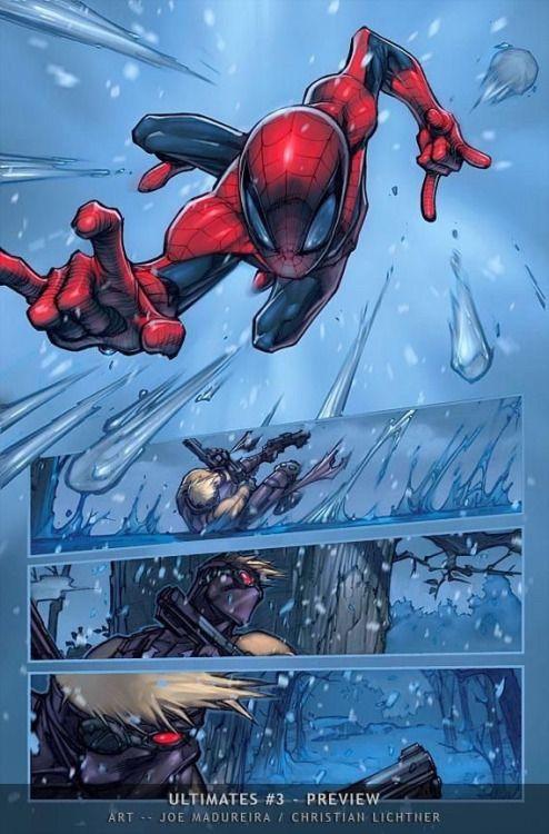 Spider-Man in the Snow - Joe Madureira