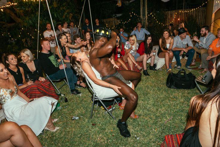 Rustic birthday celebration. Stripper hilarious