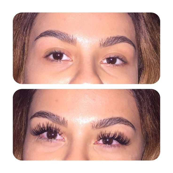 Before and After eyelash extensions by Flutter with Flair. Follow @flutterwithflair on Instagram