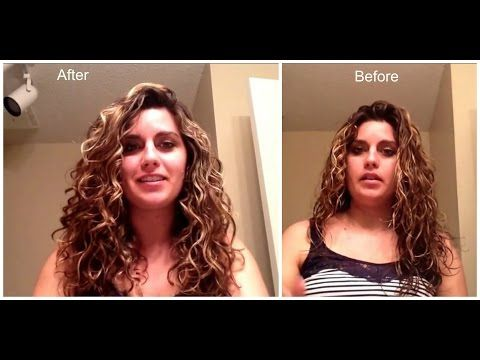 FRIZZ FREE curly/wavy wet styling for type 2b/2c/3a hair part 2 LEG Method - YouTube
