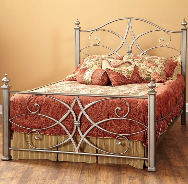 Katrina Iron Bed in German Silver by Largo Furniture   Humble Abode