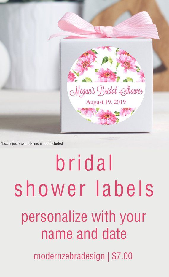 custom bridal shower stickers labels for bridal shower favors pink bridal shower floral labels in 2018 bridal shower favors pinterest bridal