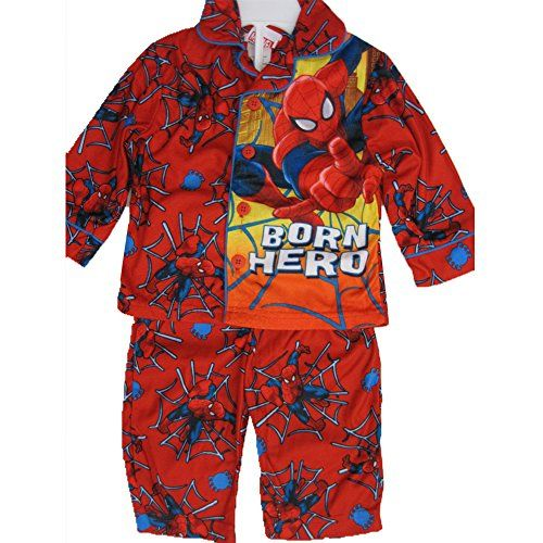 Spiderman Little Boys Red Superhero Print Button Down 2 Pc Pajama Set 2T @ niftywarehouse.com #NiftyWarehouse #Spiderman #Marvel #ComicBooks #TheAvengers #Avengers #Comics