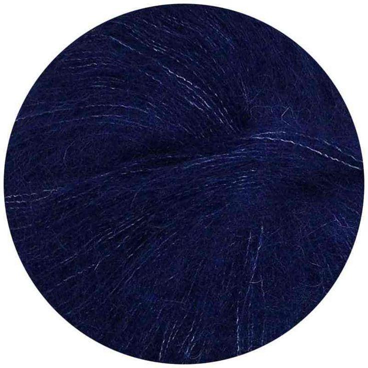 Sugar Bush ::Drizzle #8016:: Mohair Silk Yarn Navy Night