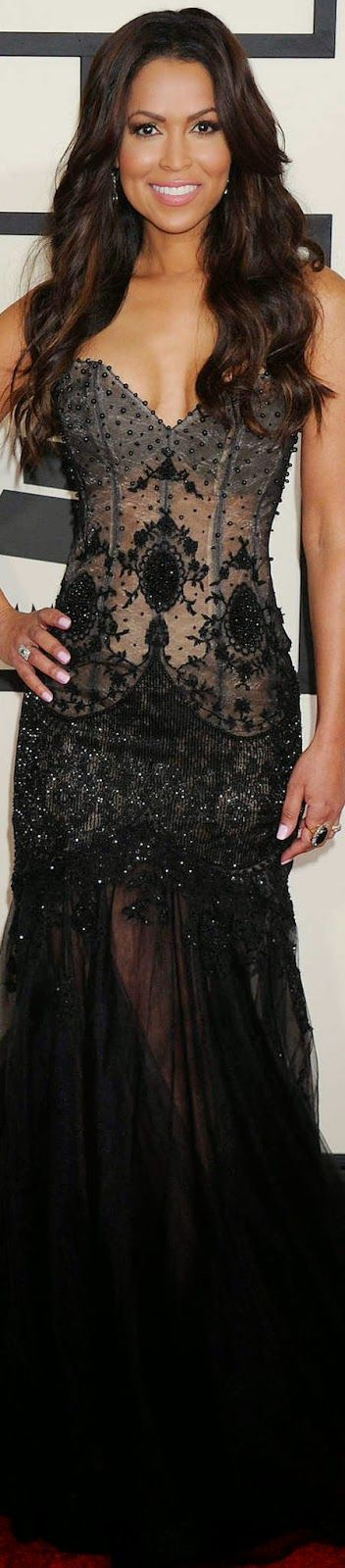 Tracey Edmonds                                               2015 Grammy Awards Red Carpet