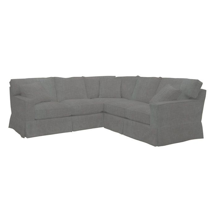 Graham 3 Piece Sectional Slipcover Special Order Fabrics Ballard Designs Sectional Slipcover 3 Piece Sectional Sectional
