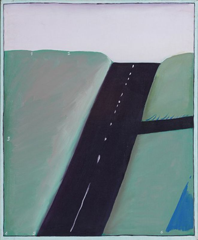 """Stanisław Fijałkowski, """"Autostrada XIII"""", 1974, olej, płótno, 73 x 60,3 cm, fot. dzięki uprzejmości Galerii aTAK"""