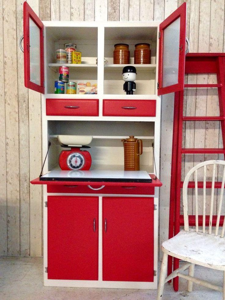Vintage Retro 50s 60s Kitchen Cabinet Cupboard Larder Kitchenette Mid  Century