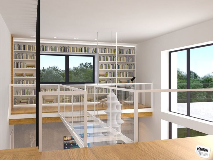 gallery, bookshelves - Statenice