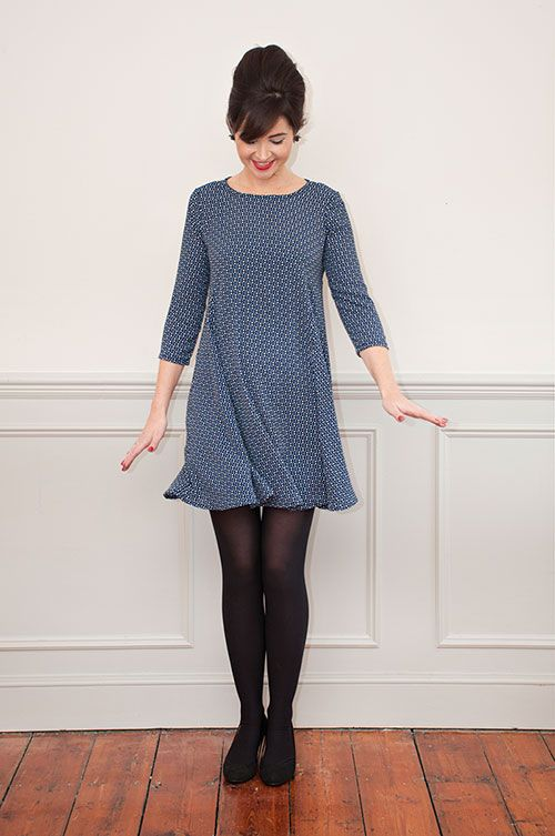 Sew Over It Nancy Dress Sewing Pattern - look at that swish! Make this dress yourself with our new PDF pattern!