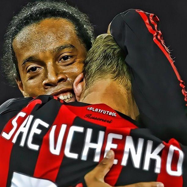 Ronaldinho and Shevchenko AC Milan