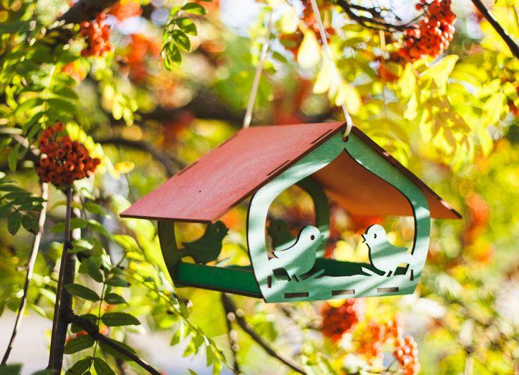 Bird feeder - wooden bird feeder - garden decoration - hanging bird feeder - large bird feeder - birdfeeder - handmade - handcrafted by SweetDreamIdeas on Etsy https://www.etsy.com/listing/204925669/bird-feeder-wooden-bird-feeder-garden