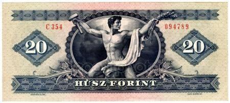 Régi magyar pénz — Stock Kép