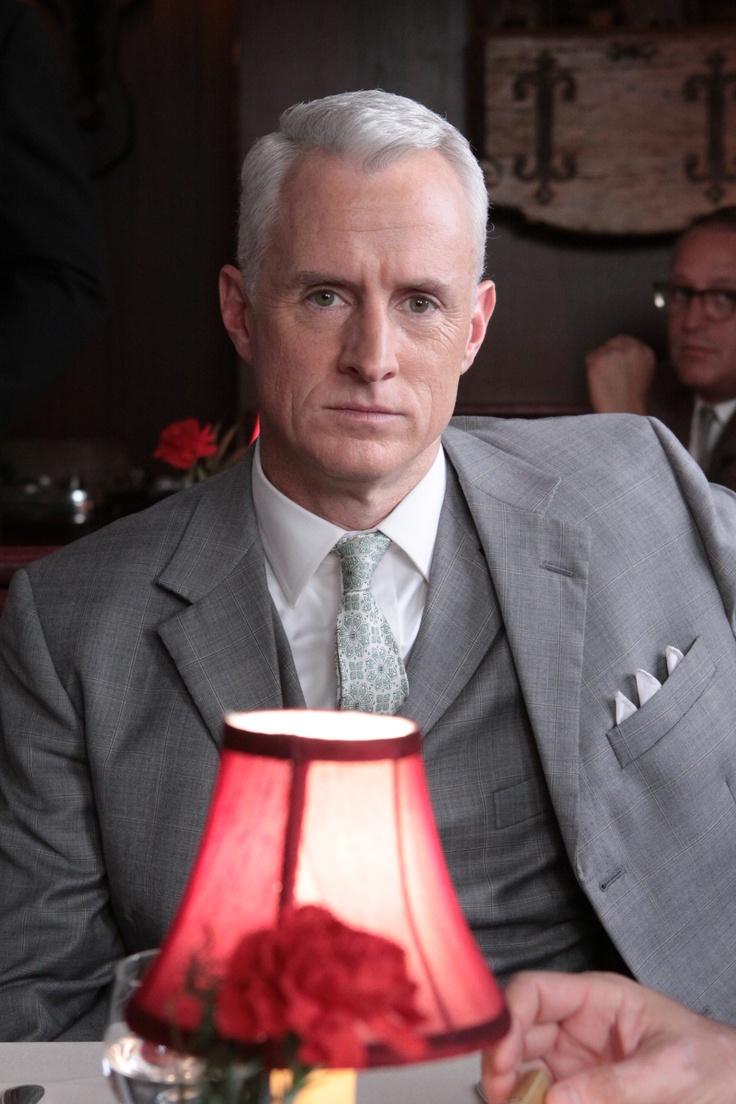 Roger Sterling (John Slattery) Episode 302 #madmen #menswear #suitandtie