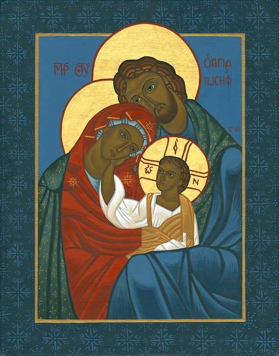 Icon of the Holy Family Print  Catholic Religious by juniperplum, $15.00