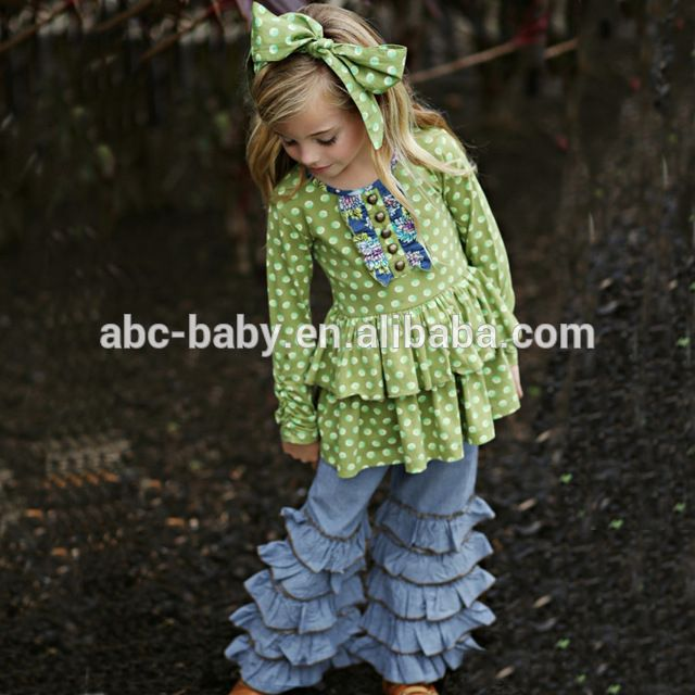 Source Stylish ruffle outfit toddler girls clothing wholesale children's boutique clothing on m.alibaba.com