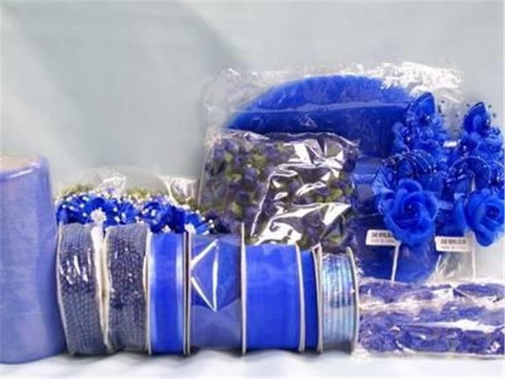 Royal Blue Wedding Favor Decorations Bridal Shower Table Decorating Supplies Lot