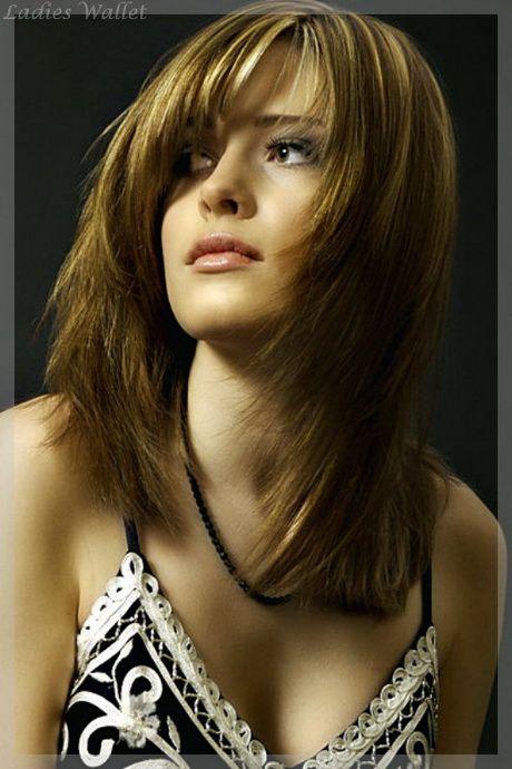 Frisuren Mittellang Stufig Mit Pony Haar Modellen