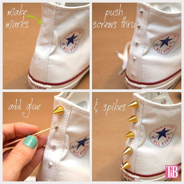 nice way to be crafty and bring a sups cute look to your Converse or your fave shoes :P