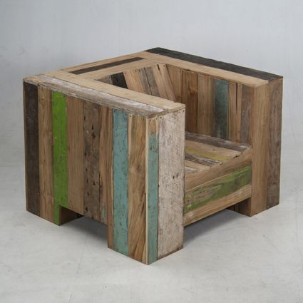 scrapwood garden chair, piet hein eek