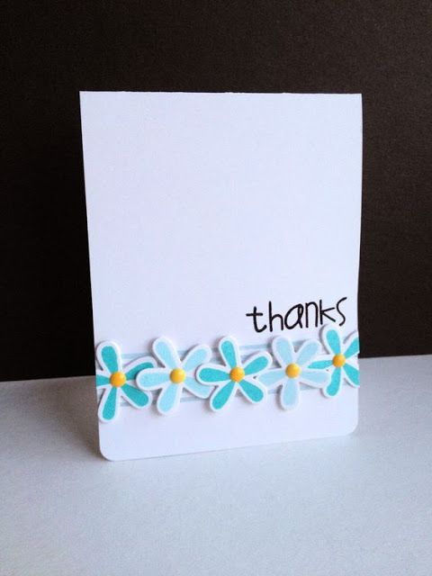 Thanks card by Lisa Addesa - Paper Smooches - Reflections stamps and dies, Many Thanks