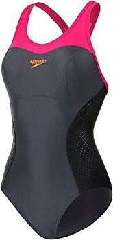 <title>SPEEDO Racerback Schwimmanzug Damen anthrazit/pink 38 im Online Shop von SportScheck kaufen</title>