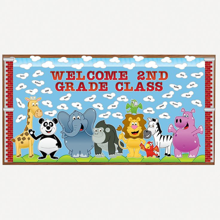 Welcome+Zoo+Bulletin+Board+Set+-+OrientalTrading.com