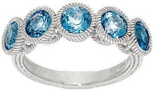 Judith Ripka Sterling & Gemstone Five Stone Ring