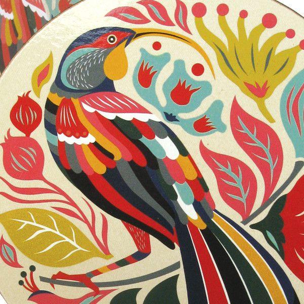 Tofutree Coaster Set Colourful Huia