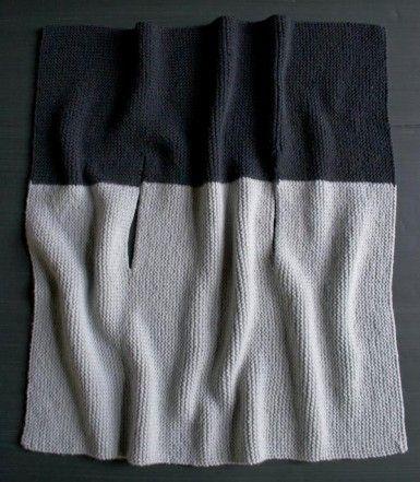 Sideways Garter Vest | The Purl Bee Big chunky yarn???