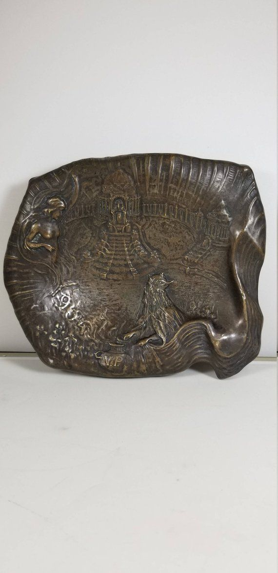 Very Rare Silver Plated Tray Neptune and