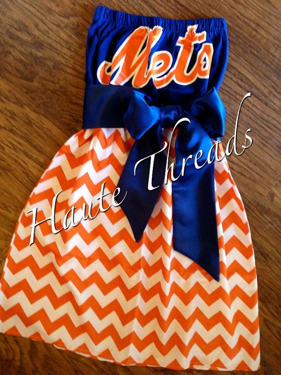 New York METS Baseball MLB Gameday Tube by hautethreadsboutique, $70.00 OMG I WISH IS WAS A SIZE ZERO SO I COULD WEAR THIS!!!!