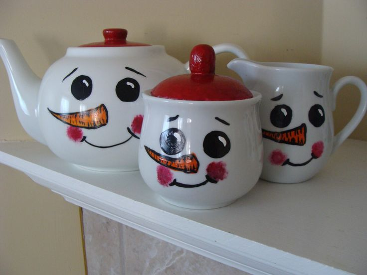 Snowman Teapot Set Christmas Dinner,Holiday Entertaining, Frosty,Noel,Holiday Season,Christmas Gift,Hostess Gift,Coworker Gift, Friend Gift by CANADIANCREATIONZ on Etsy