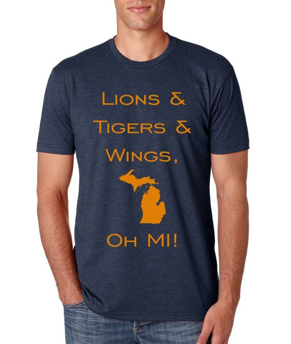 Adult Lions Tigers and Wings Oh Mi Shirt by DynamiteShirts on Etsy, $16.00