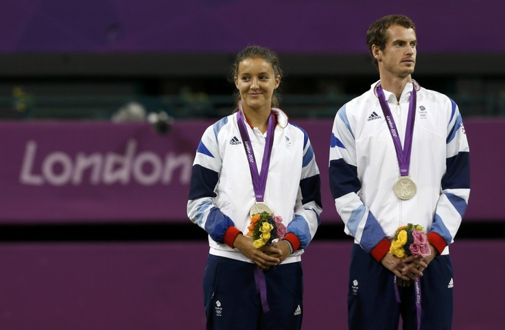 Andy Murray and Laura Robson wont the mixed doubles silver -day 8