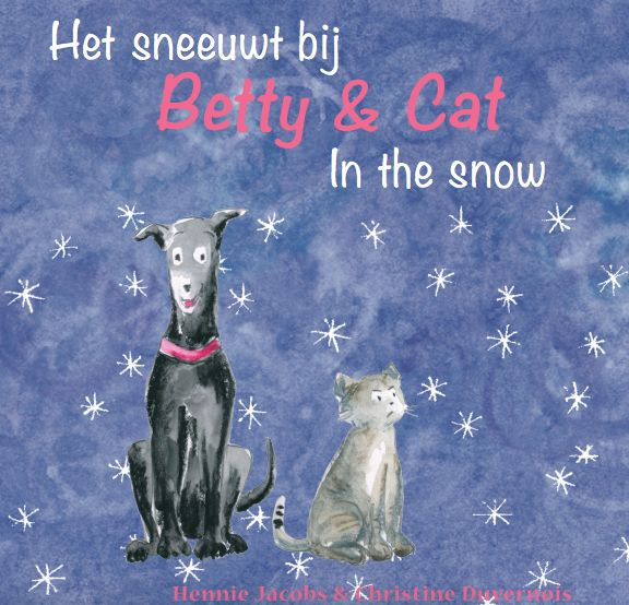 Cover of  the third book in the Betty & Cat Dutch/English series.  These books are NOT translated (it's what makes them special!). Kids today are very clever with language!