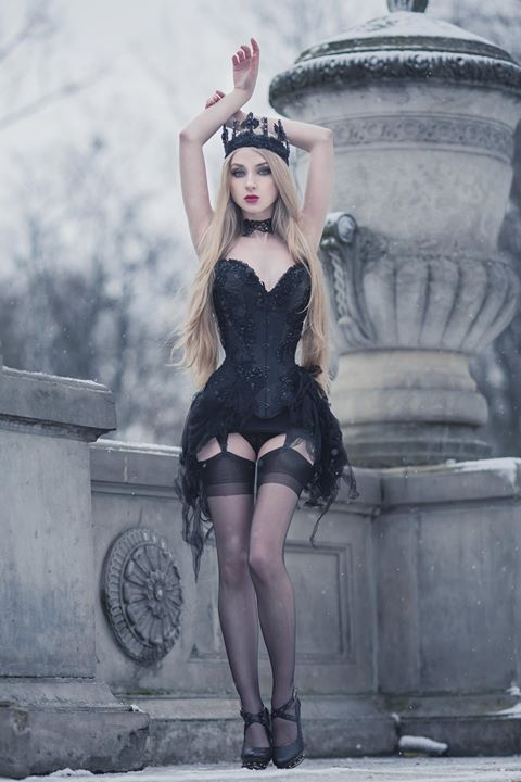 Model, photo, crown: Absentia Corset: Royal Black Couture & Corsetry Welcome to Gothic and Amazing  www.gothicandamazing.com