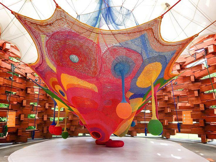 箱根 彫刻の森美術館 THE HAKONE OPEN-AIR MUSEUM - 開催情報 - 「ネットの森」7/20(木)オープン!「ネットの森」タイムラプス 制作過程動画公開中!