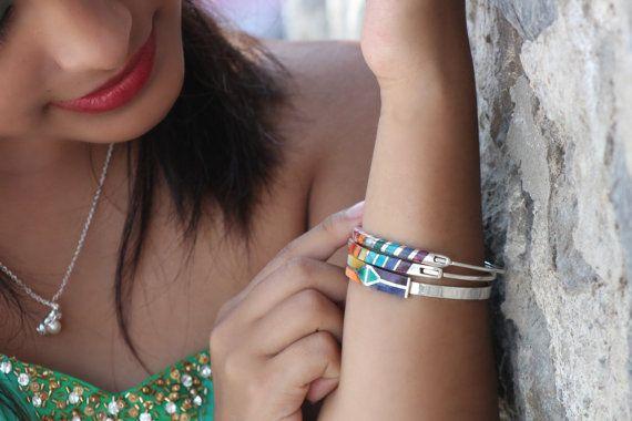 peru bracelet inca bracelet silver cuff by EthnicSilverJewelry