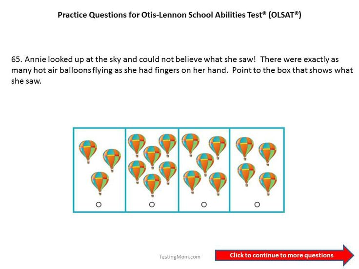 Practice OLSAT questions for 1st grade to 2nd grade....Otis-Lennon ...