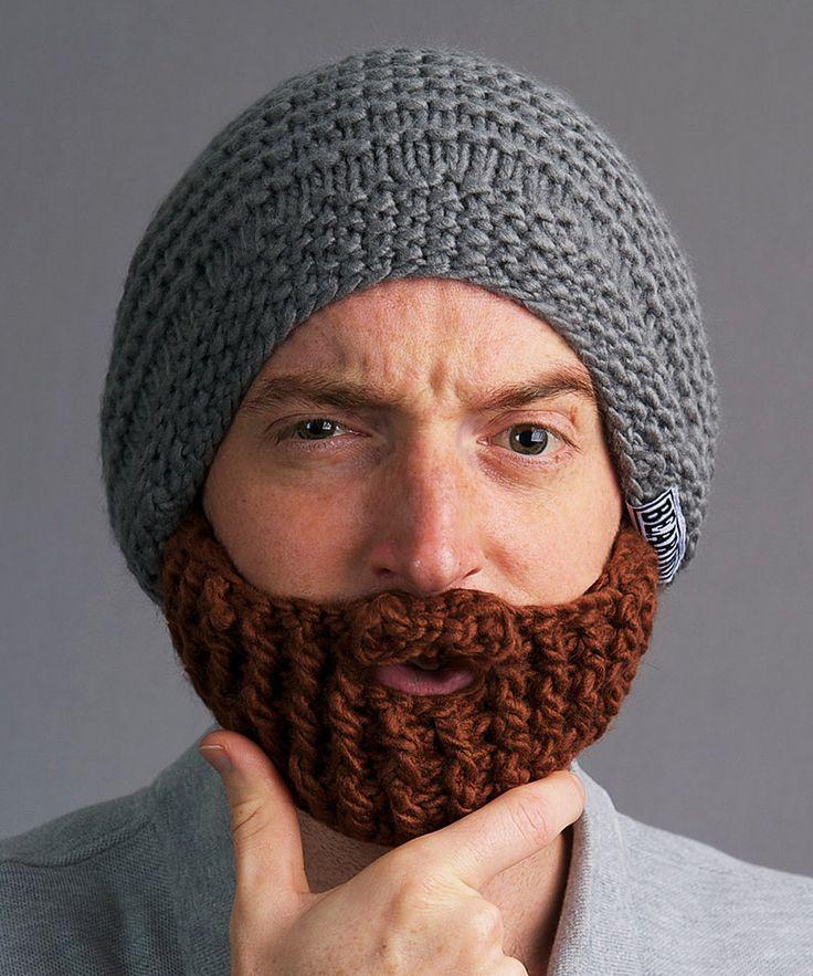 Beardo Gray Hat & Brown Beard